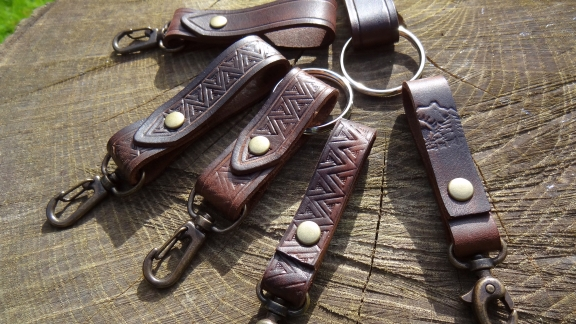 Leather Valet Keyring, Leather Belt Loop